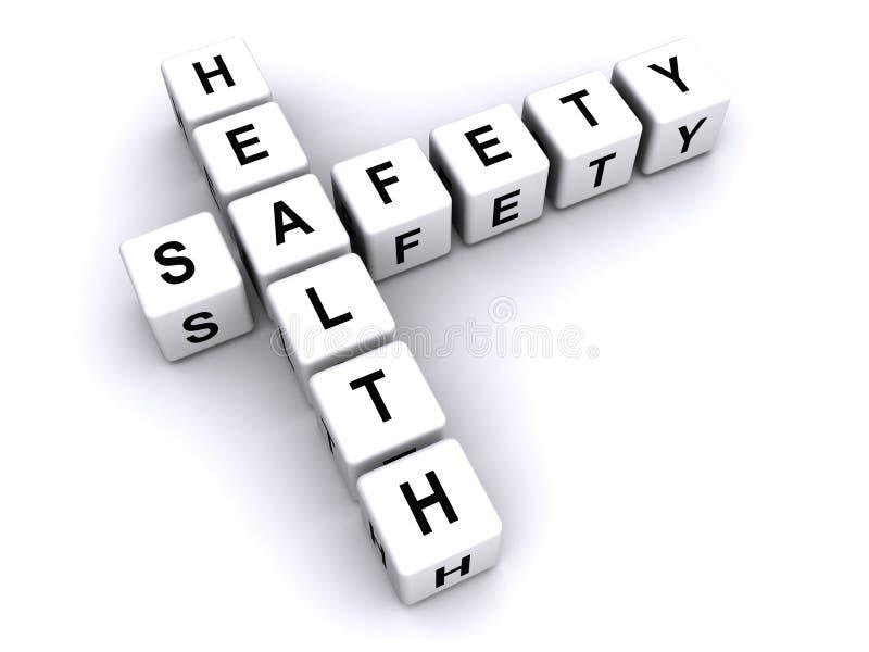 hälso- och säkerhetstecken arkivfoto