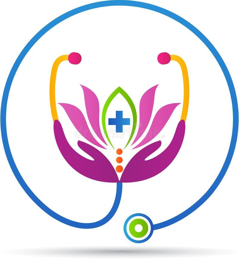 Hälso- och wellnessomsorg stock illustrationer