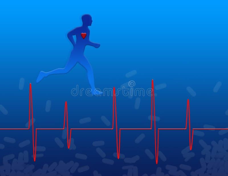 hälsohjärtamedicin stock illustrationer