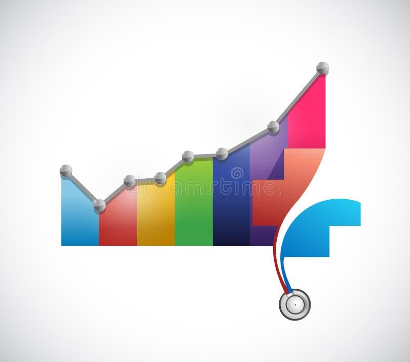 hälsovård prissätter resningbegreppsillustrationen vektor illustrationer