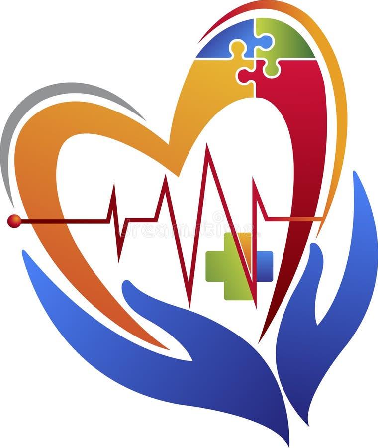 Hälsovårdlogo royaltyfri illustrationer