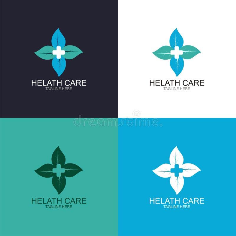 Hälsovårdlogo stock illustrationer