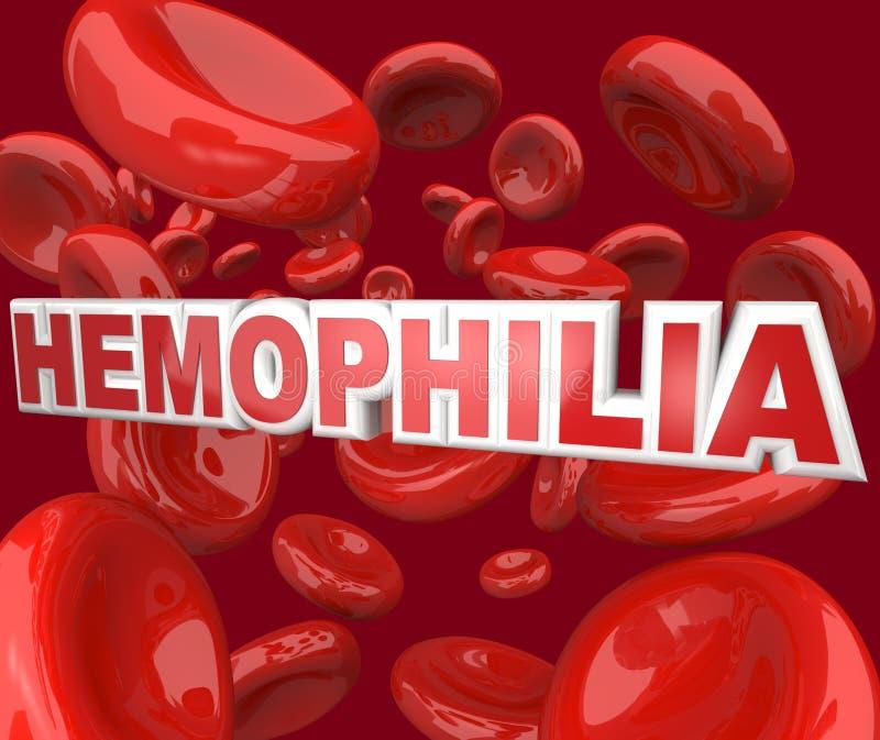 Hämophilie-Störung-Krankheit in den Blut-Strom-Zellen stock abbildung