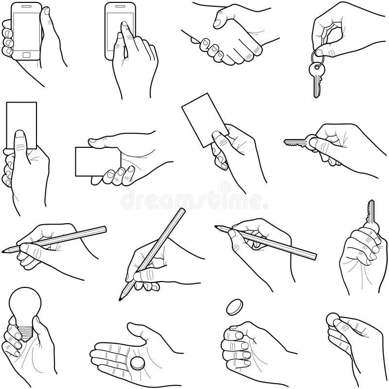 Hände stock abbildung