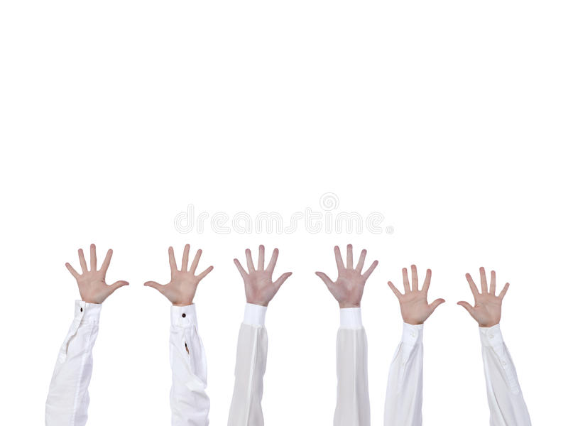 Hände angehoben lizenzfreie stockfotografie