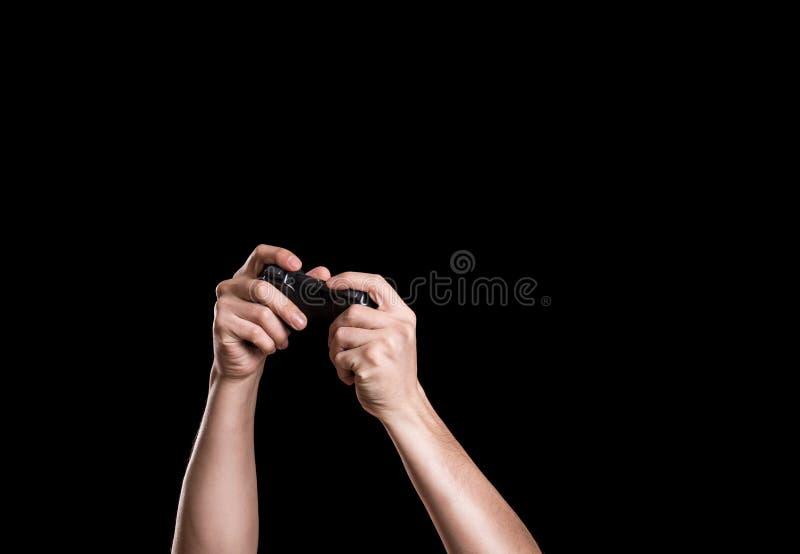 Hände in der Dunkelheit lizenzfreies stockfoto