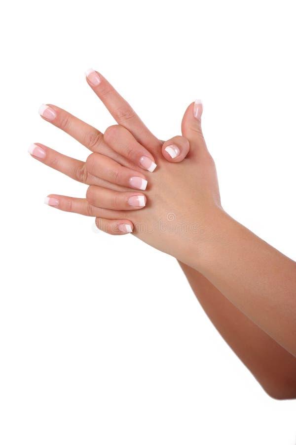 Hände der Frau stock abbildung