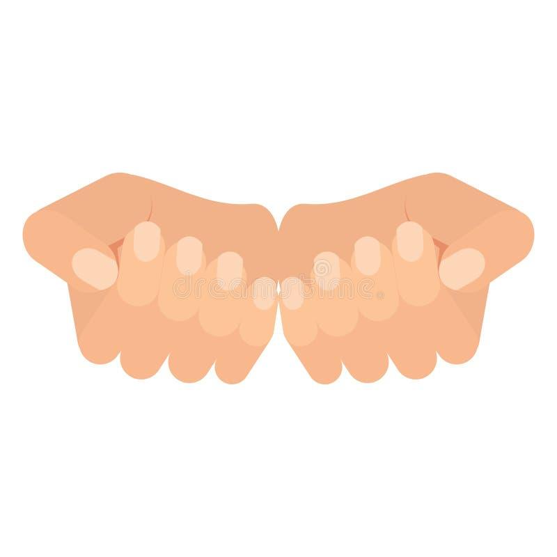 Hände der Frau lizenzfreie abbildung