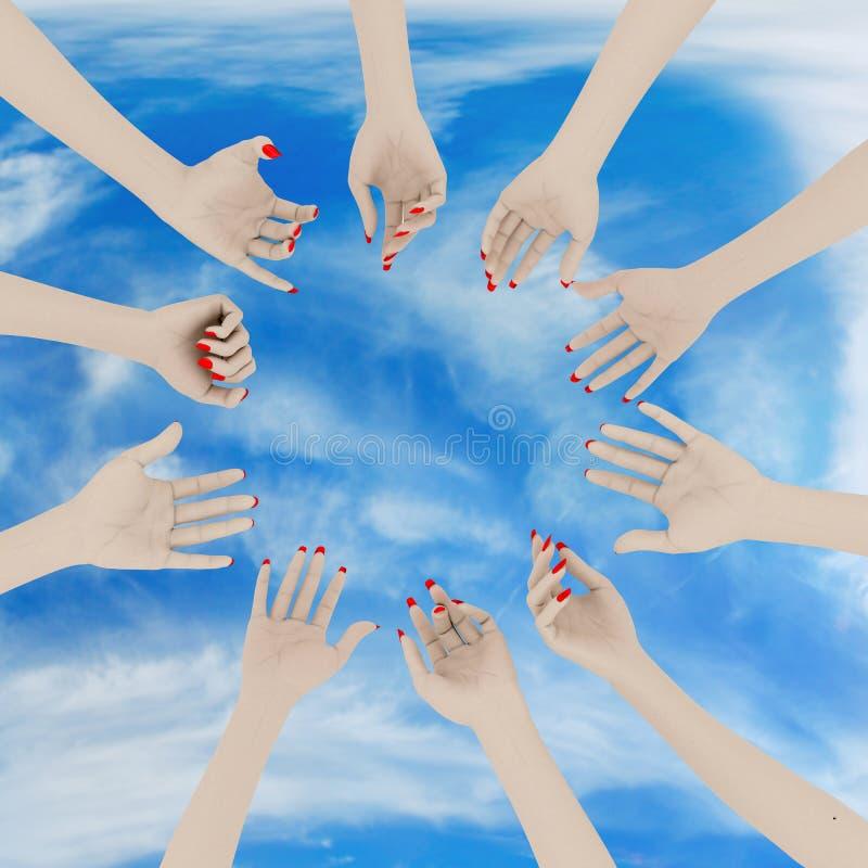 Hände der Frauen stock abbildung