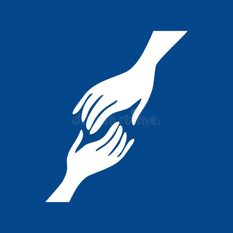 Hände der Hilfe und der Rettung stock abbildung