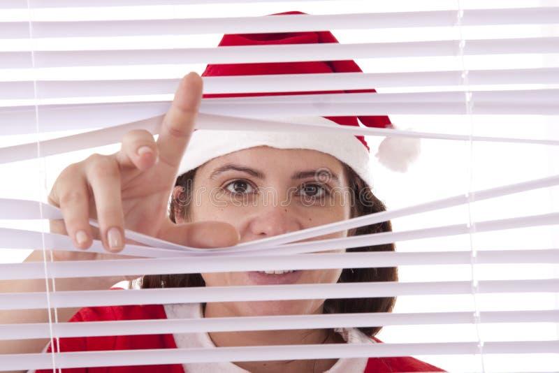Hände der Mrs Weihnachtsmann lizenzfreies stockbild