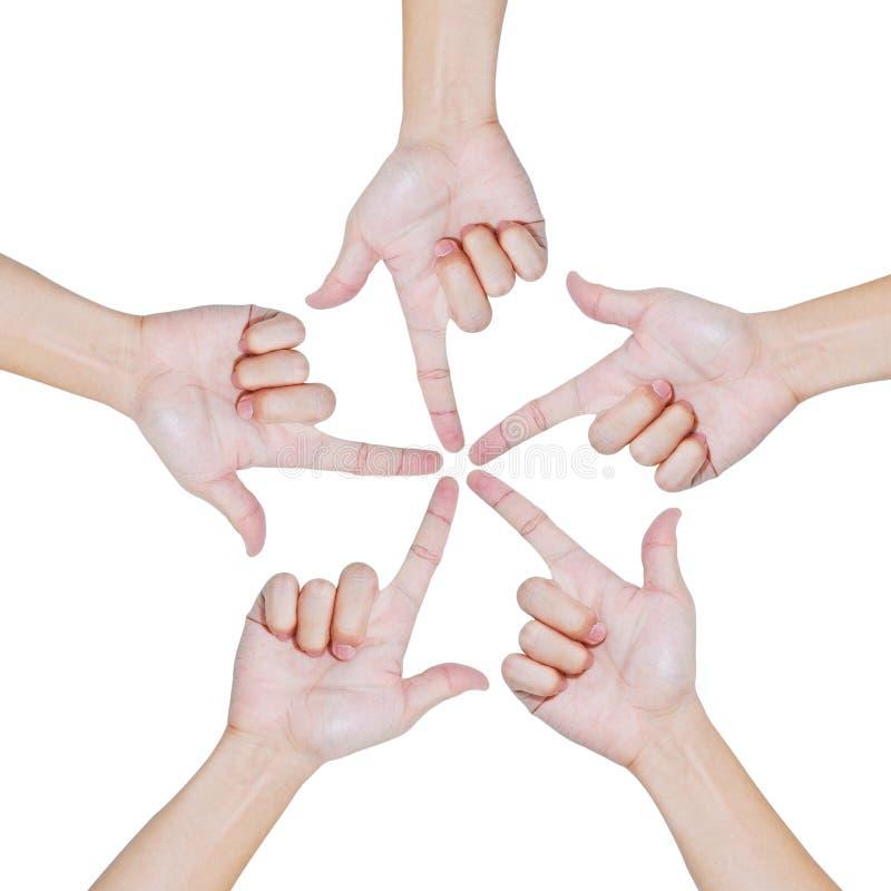 Hände der Teamwork, Begriffsart lizenzfreie stockfotos