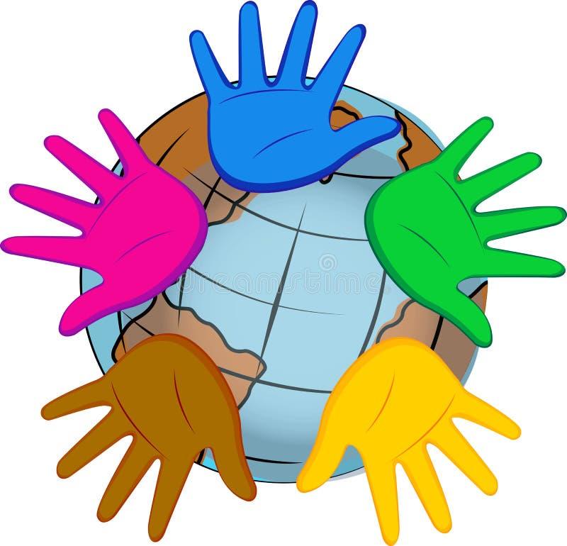 Hände der Welt stock abbildung