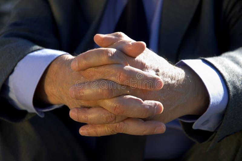 Hände Des Geschäftsmannes Lizenzfreies Stockbild