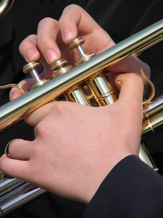 Hände des Musikers stockfotografie