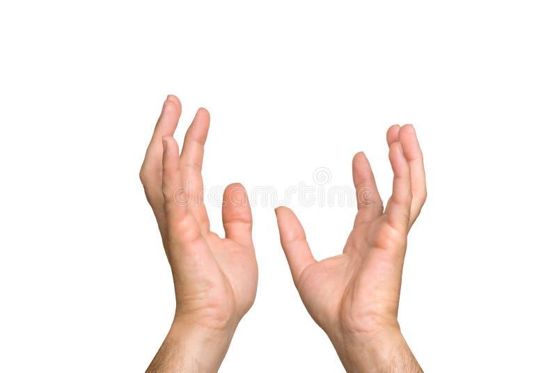 Hände, die in der Aspiration outreacing sind lizenzfreie stockfotografie