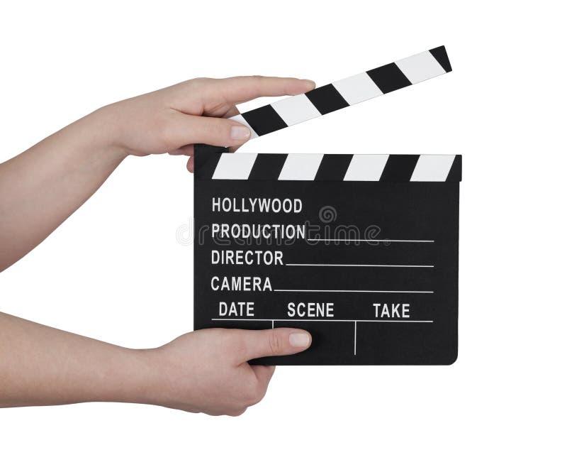 Film clapperboard stockfoto