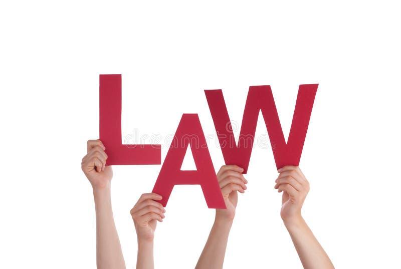 Hände, die Gesetz halten stockfotos