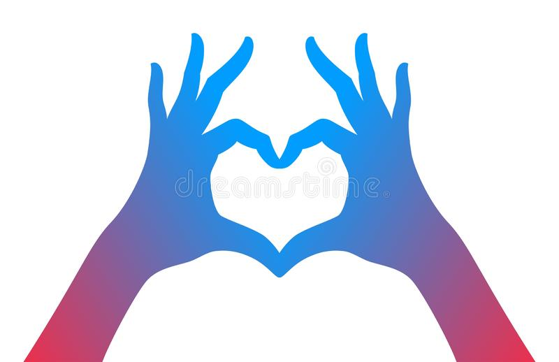 Hände, die Liebesherzsymbol machen lizenzfreie abbildung