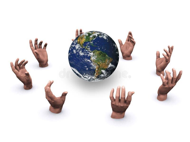 Hände in einem Kreis stockfotografie