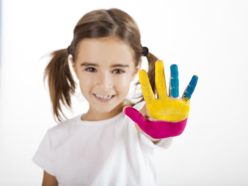 Hände gemalt lizenzfreies stockbild