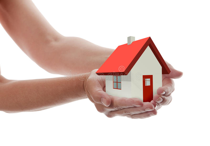 Hände - Holding-Haus lizenzfreie abbildung