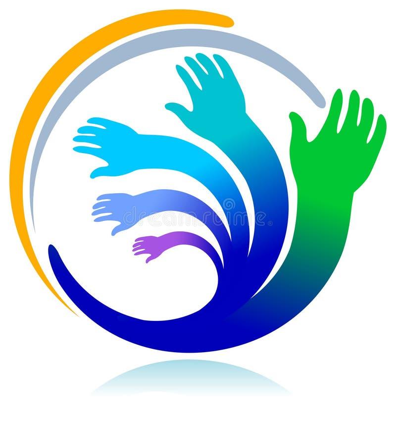 Hände im Kreis vektor abbildung