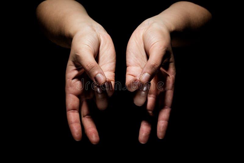 Hände im mudra lizenzfreies stockbild