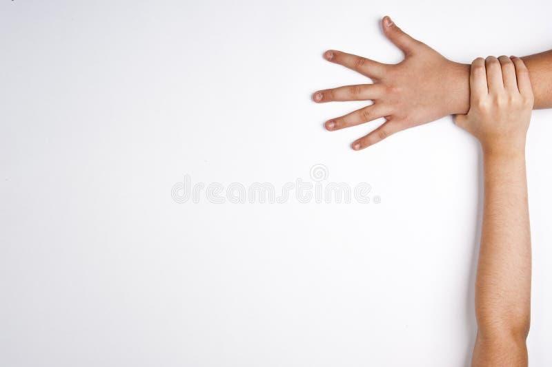 Hände vereinigt stockbild