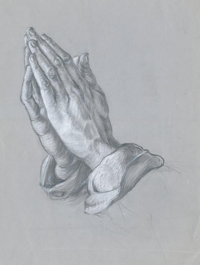Hände - Zeichnung stock abbildung
