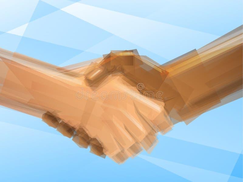Händedruck-Geschäfts-Abkommen stock abbildung