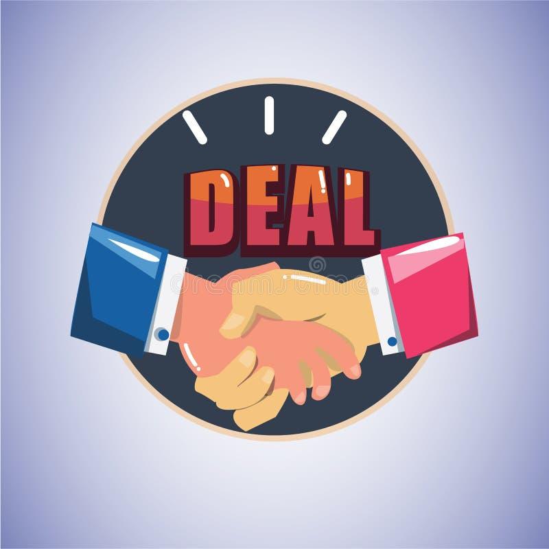 händedruck Herstellung ein Abkommen - stock abbildung
