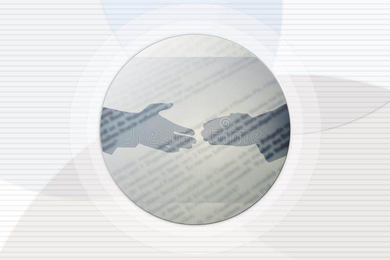 Händedruck-Hintergrund lizenzfreie abbildung