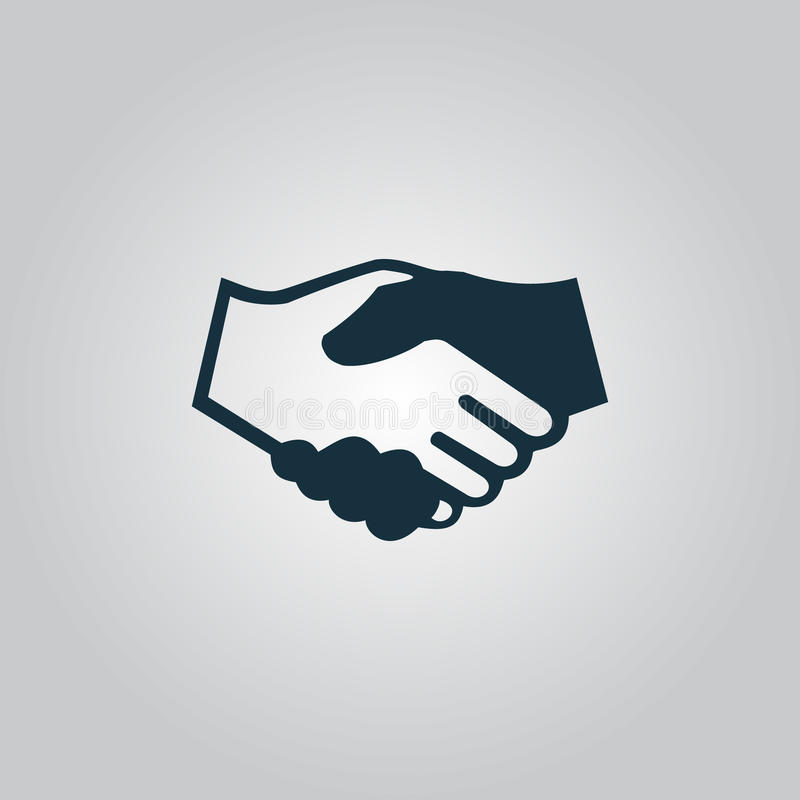 händedruck Hintergrund für Geschäft und Finanzierung lizenzfreie abbildung