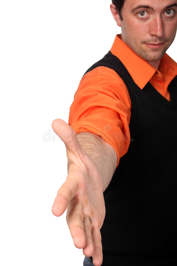 Händedruck - lässt Erschütterung unsere Hände lizenzfreie stockfotografie