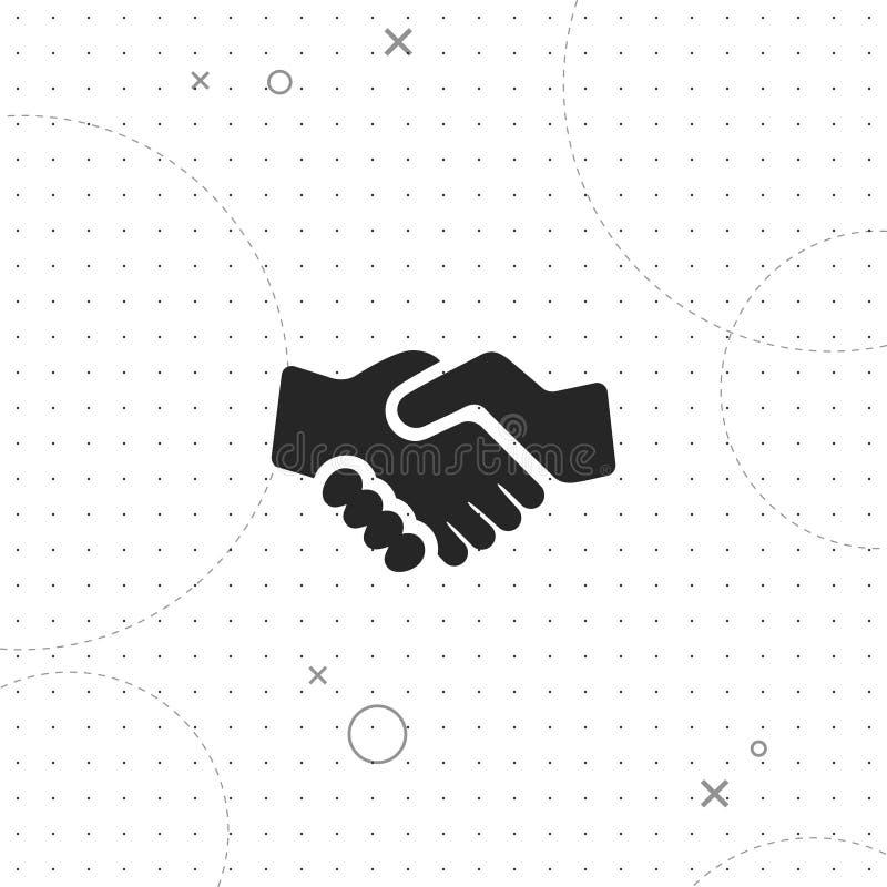 Händedruck, Partnerschaft, vector beste flache Ikone lizenzfreie abbildung