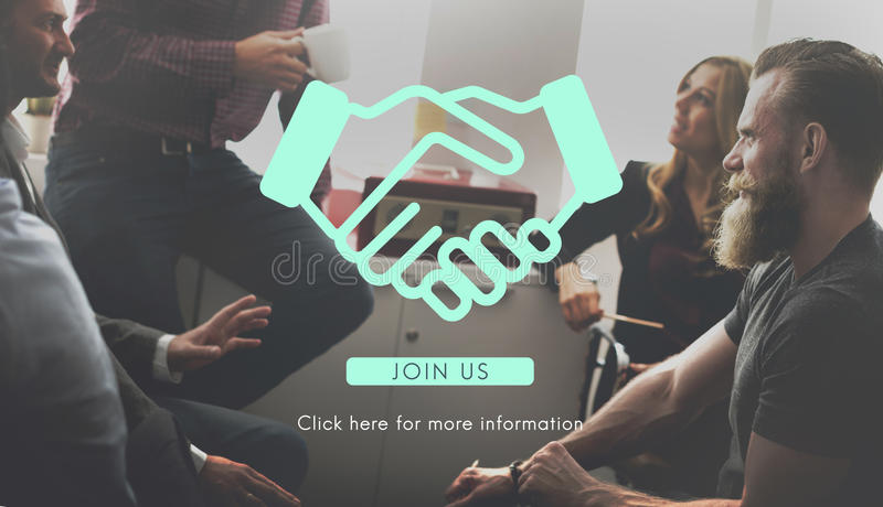 Händedruck-Unternehmensgeschäftsvereinbarungs-Vereinbarungs-Zusammenarbeit Concep lizenzfreies stockbild