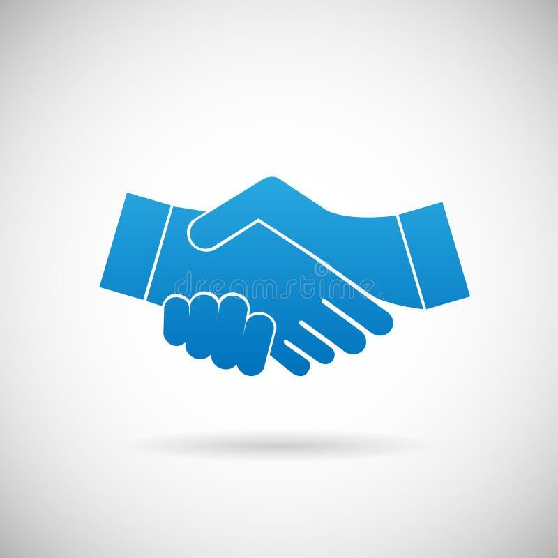 Händedruck-Zusammenarbeits-Partnerschafts-Ikonen-Symbol-Zeichen-Vektor-Illustration stock abbildung
