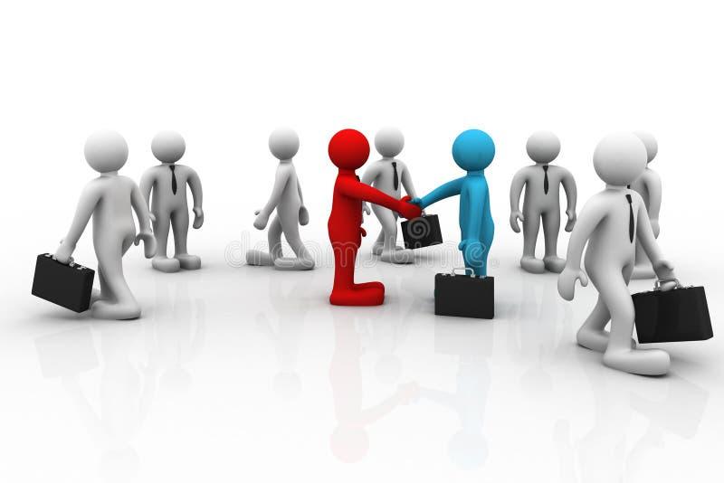 Händedruck zwischen zwei Geschäftsleuten lizenzfreie abbildung