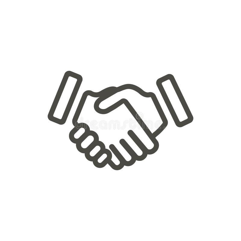 Händedruckikone Vektor Linie Partnerschaftssymbol lizenzfreie abbildung