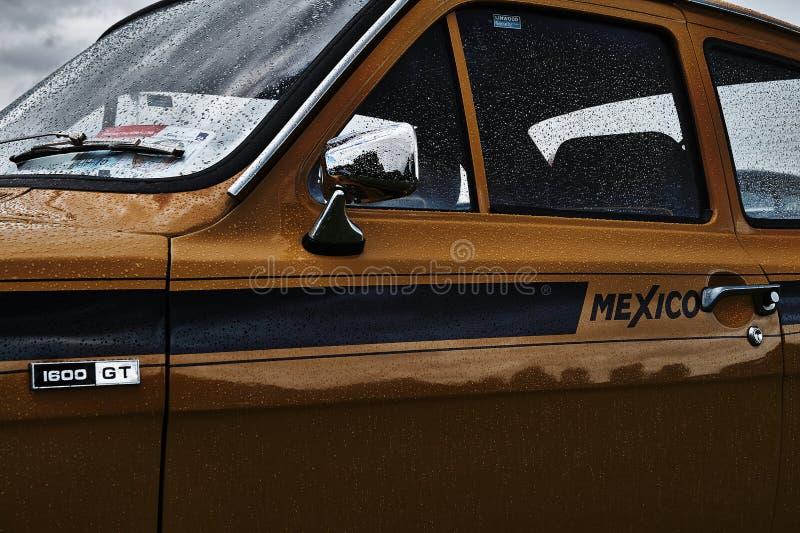 Händelse för bil för Ford Escort tappning klassisk arkivfoto