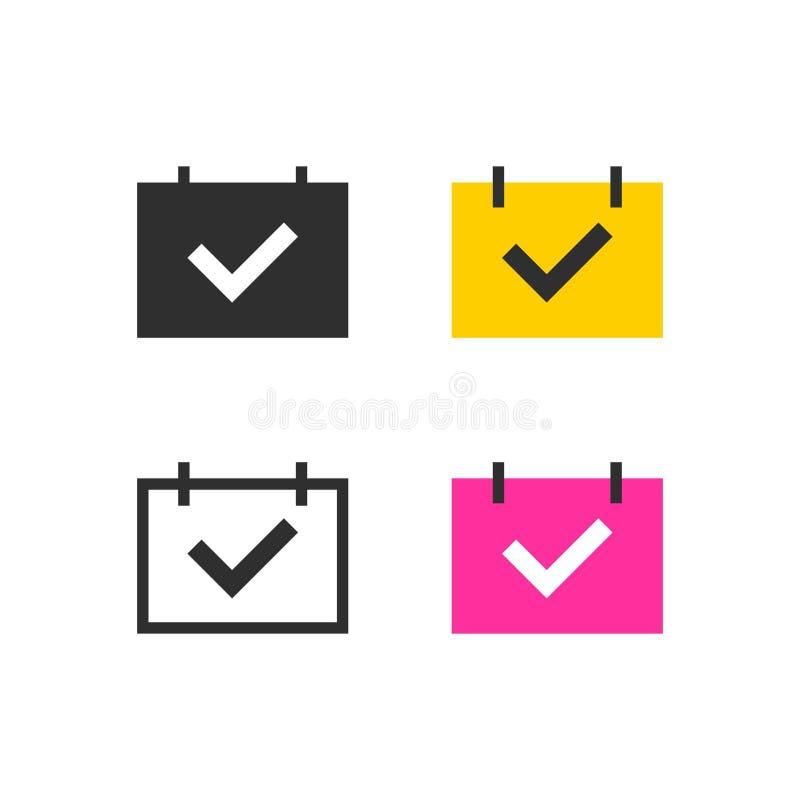 Händelse i kalendersymboler stock illustrationer