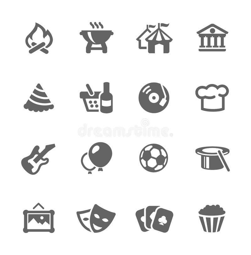 Händelsesymboler vektor illustrationer