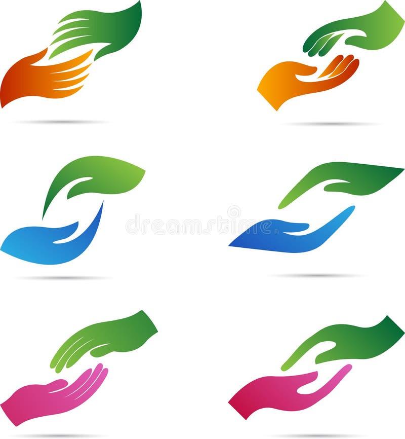 Händer stock illustrationer