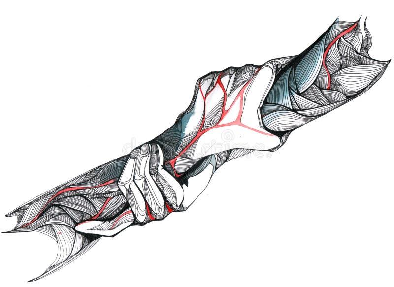 Händer royaltyfri illustrationer