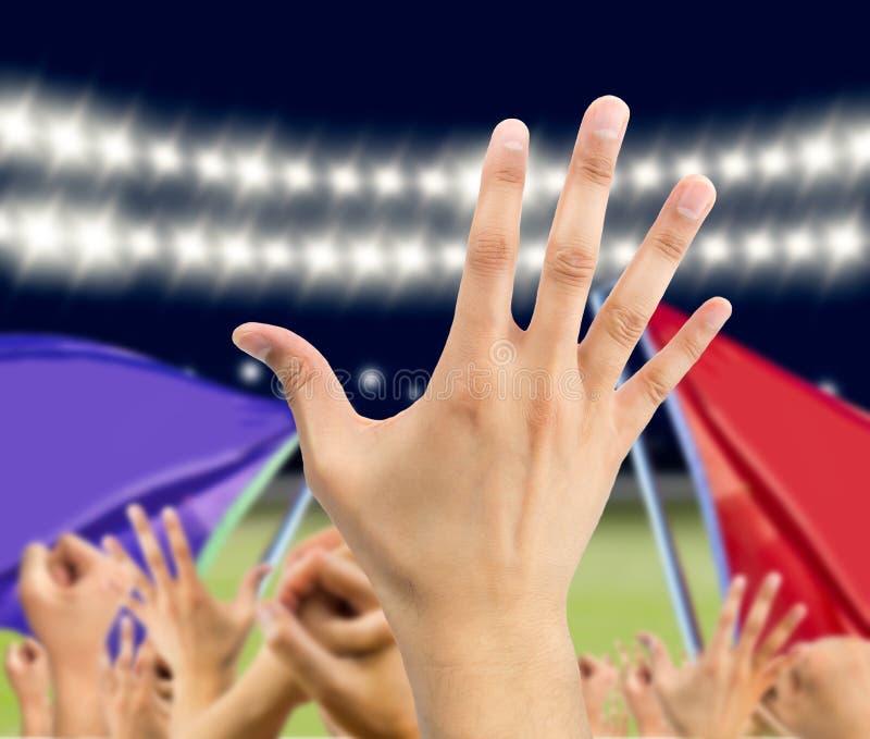 Händer av fans royaltyfri bild