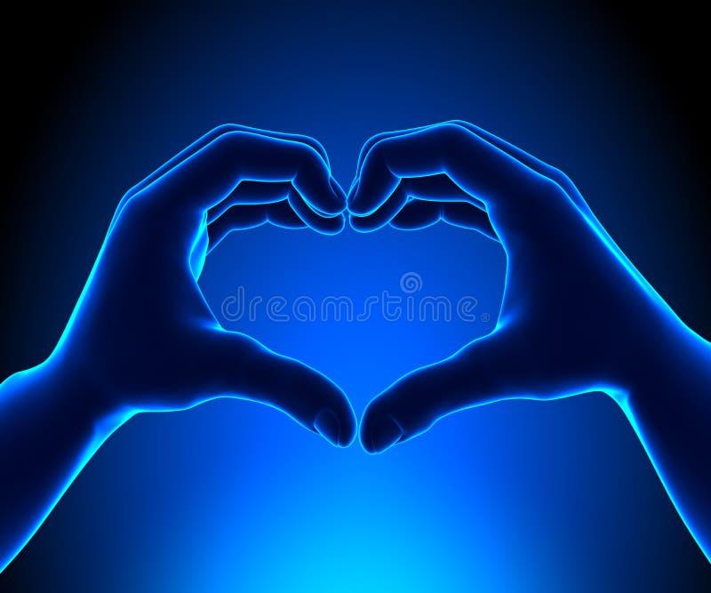Händer av hjärtor - hjärta shapped händer vektor illustrationer
