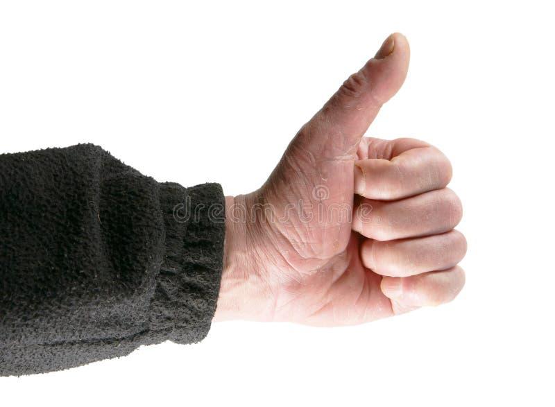 Händer göra en gest positiv Ok royaltyfri foto