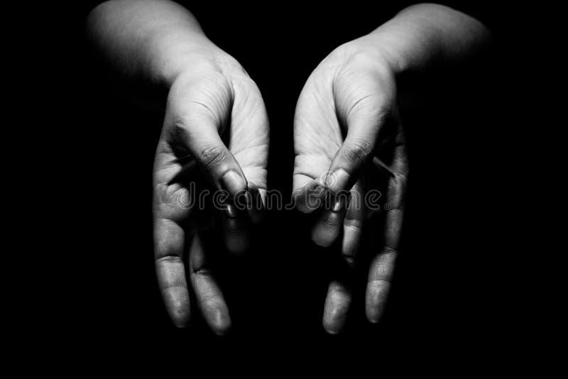 Händer i mudra arkivbilder