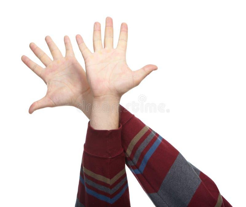 Händer med gester arkivbilder
